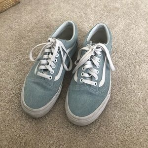 Blue Chambray vans size 8 women's